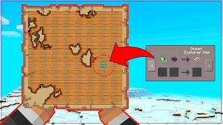 HOW to FIND TREASURE MAPS in Minecraft Pocket Edition! - NEW Minecraft PE TREASURE MAPS UPDATE
