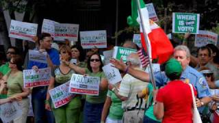 Global Day Of Action - United For Iran (Washington DC, July 25 2009)  W/music By Dariush