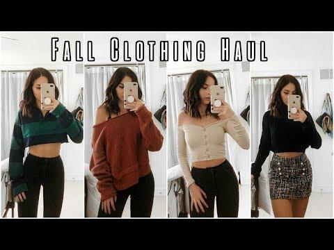 ANOTHER FALL CLOTHING HAUL   Try On   Fashion Nova + Zara