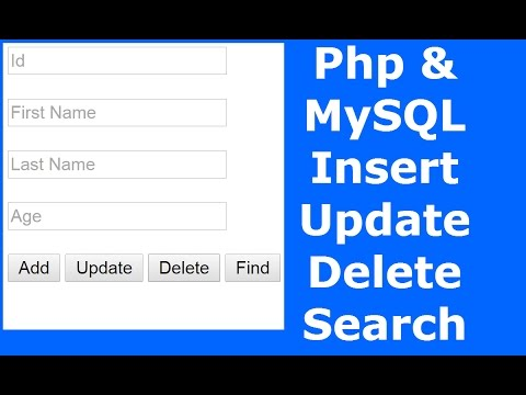 Php : How To Insert Update Delete Search Data In MySQL Database Using Php [ with source code ] 1