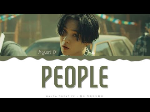 Agust D - 'People' Lyrics Color Coded (Han/Rom/Eng)