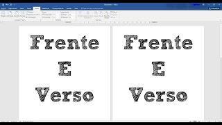 Como imprimir frente e verso
