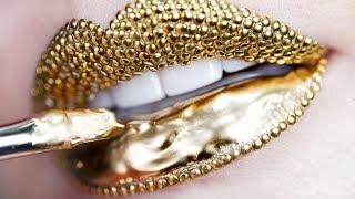 Video Makeup Tutorial Step by Step Using Gold Pigment & Studs | Lip Art MP3, 3GP, MP4, WEBM, AVI, FLV Oktober 2018