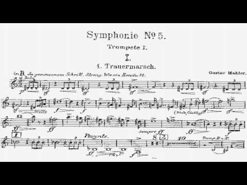 Phil Smith - Mahler 5 trumpet excerpt w/sheet music