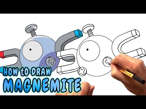 How to Draw Magnemite from Pokemon Go - Very Rare (NARRATED) (видео)