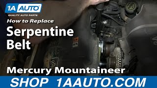 How to Change Oil and Filter 02-05 4.6L V8 Mercury Mountaineer