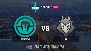 Immortals vs G2 - ESL One Cologne 2017 - de_cobblestone [ceh9, Enkanis]