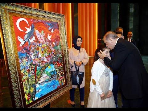 Küçük Dilara'dan Cumhurbaşkanı Erdoğan'a Anlamlı Hediye