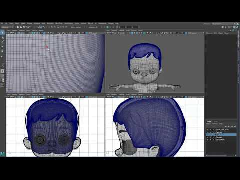 [Maya] Character Modeling And Texturing : Part A- Modeling - # 019 (Hair)