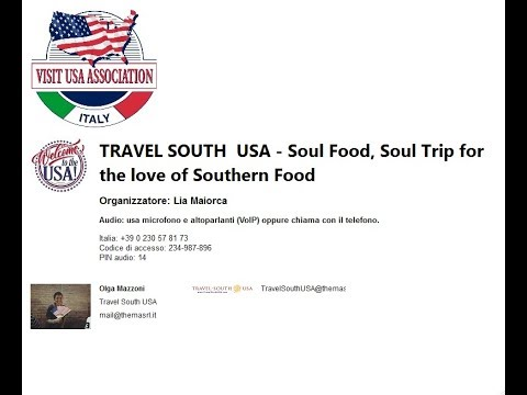 Video TRAVEL SOUTH  USA - Soul Food, Soul Trip for the love of Southern Food  (16-10-2018)