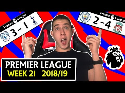 PREMIER LEAGUE 18/19 WEEK 21 SCORE PREDICTIONS & PREVIEW - MANCHESTER CITY 2 - 4 LIVERPOOL & MORE !