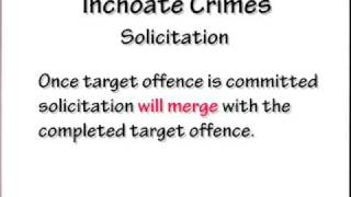 Crimi Law 5: Inchoate Crimes Solicitation, Attempt, Conspiracy Part 3 Of 3