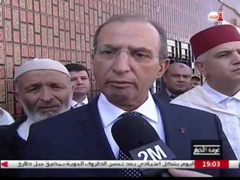 فيديو..وزير الداخلية محمد حصاد بمنزل عائلة محسن فكري