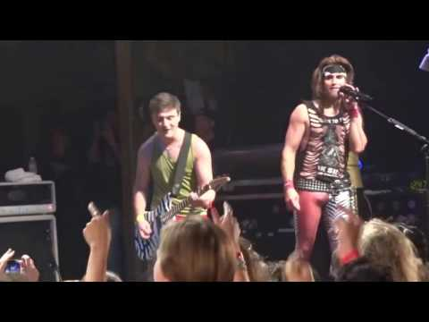 Band, Steel Panther, is skeptical about a Fan's guitar abilities. He ends up proving them wrong in the best fashion.