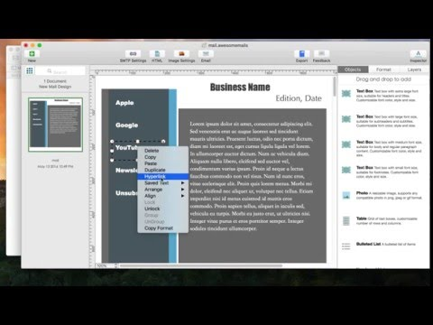 How to include hyperlinks in emails using Awesome Mails Pro 2 for Mac