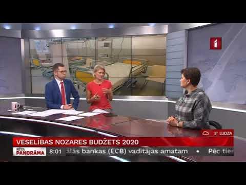 Veselības ministres Ilzes Viņķeles saruna LTV Rīta Panorāma par veselības nozares budžetu 2020