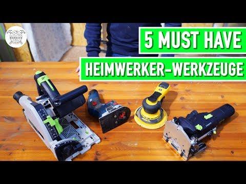 5 Must Have Werkzeuge für Heimwerker | Jonas Winkler  ...