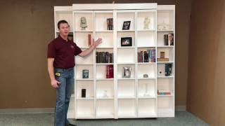 Pivoting Bookcase Murphy Bed