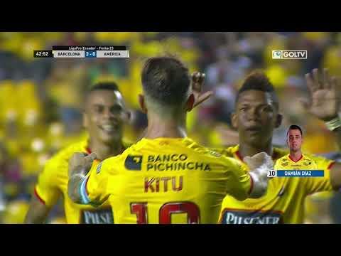 Барселона Гуаякиль - America de Quito 4:0. Видеообзор матча 25.08.2019. Видео голов и опасных моментов игры