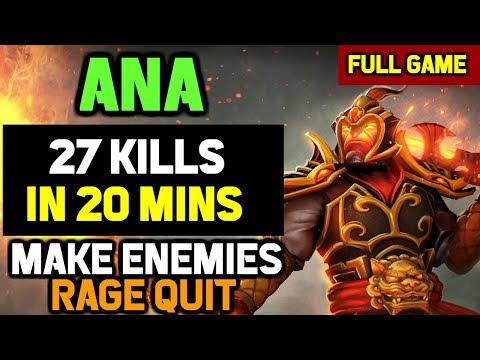 OMG! Ana shows why Ember Spirit is his Signature HERO - 27-0 OWNAGE