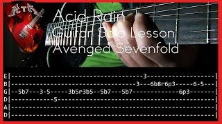 Facebook: http://www.facebook.com/rockerthemetalInstagram: https://www.instagram.com/rockerthemetalAsk for a lesson: https://www.patreon.com/user?u=2894674Tuning: D A D G B ESong: Acid Rain - Band: Avenged Sevenfold.Equipment:-Ibanez S 920-IK Amplitube 4-Amplifier Roland Cube 30x-Digitech Rp350-Audacity-Samsung HMX-H200 Full HDThank you for watching this video!Subscribe!