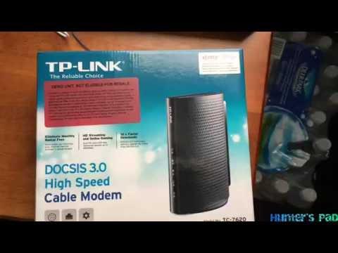 TP-LINK TC-7620 Cable Modem Unboxing