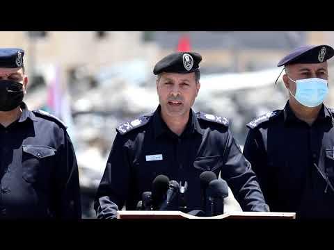 المؤتمر الصحفي لمدير عام الشرطة تعقيبا على قصف الاحتلال مقرات الشرطة خلال العدوان