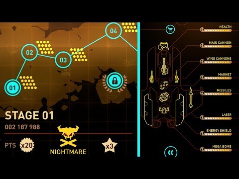 SKY FORCE RELOADED | MAXED UPGRADES STAGE 1-3 NIGHTMARE