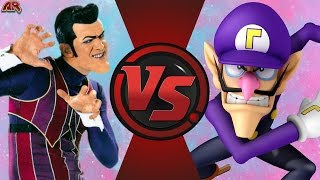 We Are Number One But It's ROBBIE ROTTEN vs WALUIGI! Cartoon Fight Club Episode 134