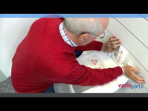 varioporto - der Duschklappsitz ohne bohren