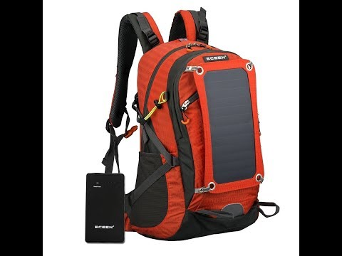 ECEEN External Frame Backpack with Solar Charger & 10000mAH Battery ECE 636 2018 01 27