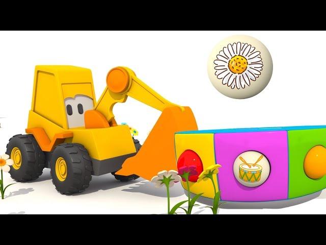 Мультик про Экскаватор Масю: Веселая Карусель - учим названия цветов, развивающий мультфильм