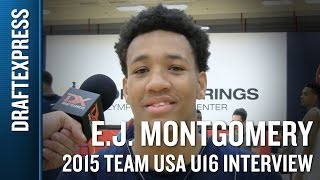 EJ Montgomery 2015 Team USA U16 Interview - DraftExpress