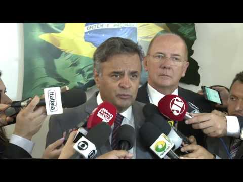 Entrevista de Aécio Neves sobre nomeação de novo ministro da Justiça