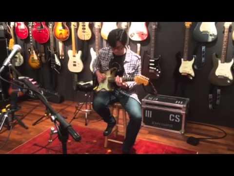 Tomo Fujita in STUDIO CONTINUUM ,two rock john mayer sig ,black one