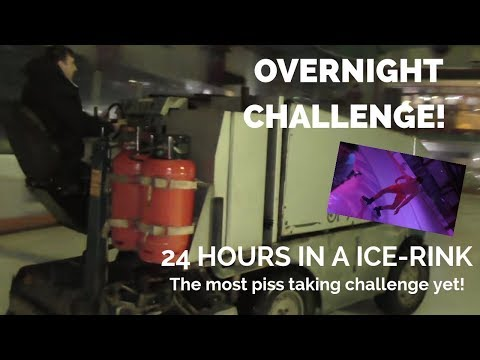 OVERNIGHT IN AN ICE RINK 24 HOUR   *WAS INSANE avoided security all night *