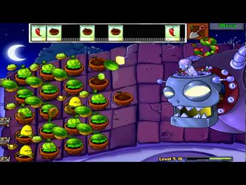 pvz - We go up against the crazy Dr. Edgar Zomboss, who sure can take the pain!