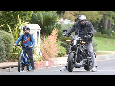 Ben Affleck And Son Samuel Bond With An Afternoon Bike Ride