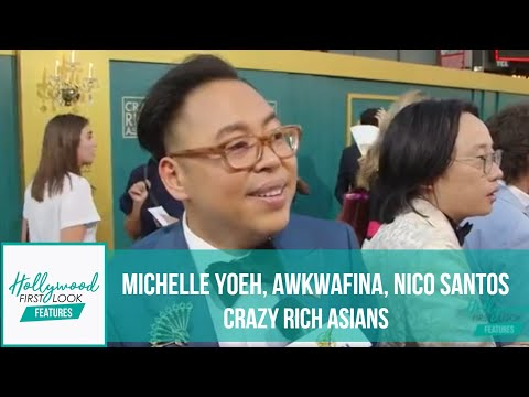 CRAZY RICH ASIANS LA Premiere, EXTENDED version:  MICHELLE YOEH, AWKWAFINA, NICO SANTOS & MORE