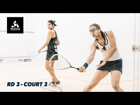 CIB Egyptian Open 2020 -  Court 3 Livestream - Rd 3