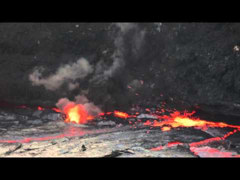 So this is what happens when a five-gallon jug of water is thrown into a lava lake - [1:16]