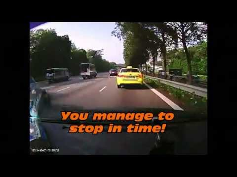 Road accident in Singapore recorded with Black Vue Vehicle Black Box