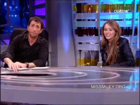 spanish tv - Miley Cyrus on the spanish TV show