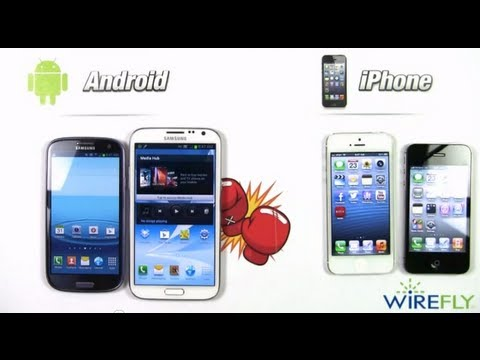 Android Smartphones vs. Apple iPhone Wirefly Schmackdown