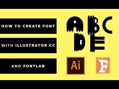 How To Create / Make The Font with Font Lab Tutorial Font 2018