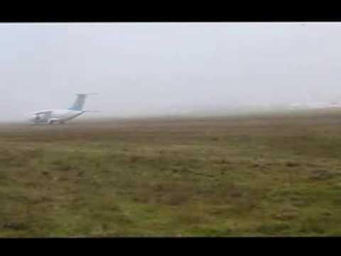 Взлет и посадка Ан-148 на грунтовую ВПП - Центр транспортных стратегий
