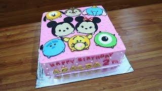 Cara Menghias Kue Ulang Tahun Karakter Kartun Terbanyak Disney Tsum Tsum Plus 12 Cupcakes