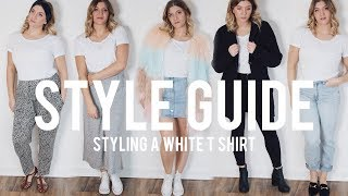 Style Guide: 5 Easy Ways To Style A White T Shirt