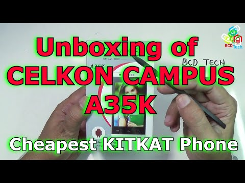 Celkon Campus A35K Cheapest KITKAT Phone: Unboxing and quick review