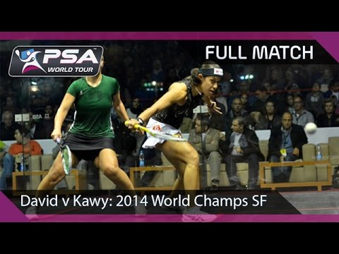 Squash : Womens World Championship Semi-Final Nicol David v Omneya Abdel Kawy
